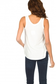 American Vintage | Zachte basic top Tibodo | wit  | Afbeelding 4