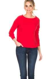 American Vintage | Top Sonoma | rood  | Afbeelding 2