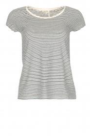 American Vintage | Gestreept T-shirt Ixatown | wit  | Afbeelding 1