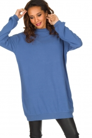 American Vintage | Lange trui Opyntale | Blauw  | Afbeelding 4