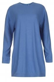 American Vintage | Lange trui Opyntale | Blauw  | Afbeelding 1