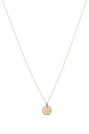 Just Franky | 14k gouden ketting Coin Diamond 43 cm | goud   | Afbeelding 1