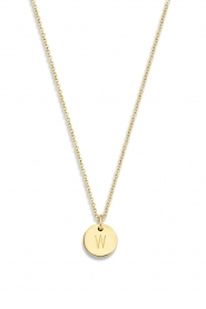 Just Franky |  14kt golden necklace Coin 43 cm | yellow gold  | Picture 2