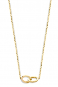 Just Franky |  14k golden necklace Iconic Double Open Circle 43 cm | yellow go  | Picture 1