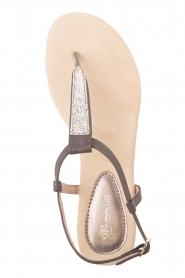 Maluo |  Leather sandals Mabel | grey  | Picture 1