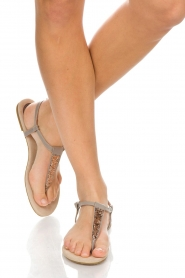 Maluo |  Leather sandals Mabel | light grey  | Picture 2