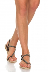 Maluo |  Leather sandals Kells | black  | Picture 2
