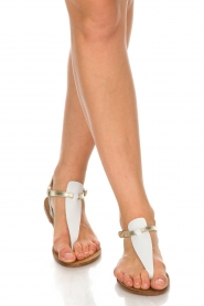 Maluo |  Leather sandals Mace | white  | Picture 2