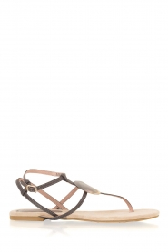 Maluo |  Leather sandals Martine | grey  | Picture 3