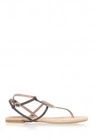 Maluo | Leren sandalen Martine | grijs  | Afbeelding 3