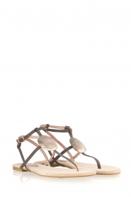 Maluo |  Leather sandals Martine | grey  | Picture 4