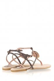Maluo | Leren sandalen Martine | grijs  | Afbeelding 5