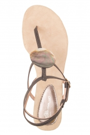 Maluo |  Leather sandals Martine | grey  | Picture 1