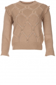 Patrizia Pepe |  Wool sweater Jules | beige  | Picture 1
