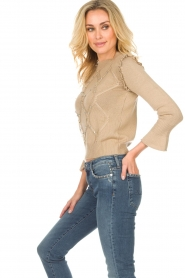 Patrizia Pepe |  Wool sweater Jules | beige  | Picture 4