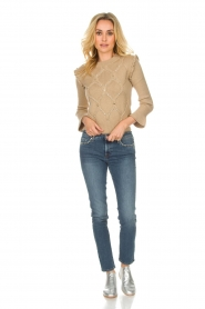 Patrizia Pepe |  Wool sweater Jules | beige  | Picture 3