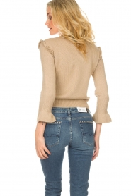 Patrizia Pepe |  Wool sweater Jules | beige  | Picture 5