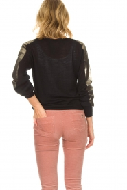 Patrizia Pepe |  Top with metallic sleeves Lira | black  | Picture 5