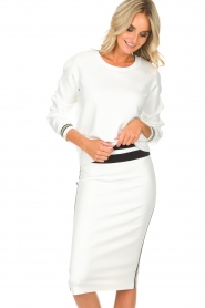 Patrizia Pepe |  Sweater Ambra | white  | Picture 2