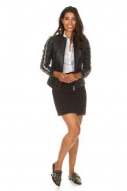 Patrizia Pepe |  Leather jacket Micky | black  | Picture 3
