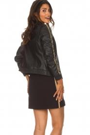 Patrizia Pepe |  Leather jacket Micky | black  | Picture 5