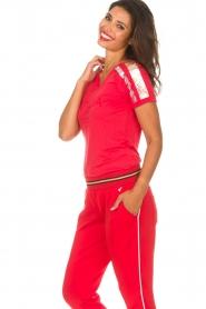 Patrizia Pepe | T-shirt Mary | rood  | Afbeelding 4