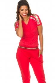 Patrizia Pepe | T-shirt Mary | rood  | Afbeelding 2