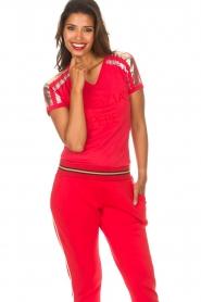 Patrizia Pepe | T-shirt Mary | rood  | Afbeelding 3