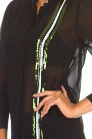 Patrizia Pepe | Blouse Siena | zwart  | Afbeelding 7
