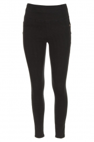 Patrizia Pepe | High waist stretch jeans Sevella | Zwart  | Afbeelding 1