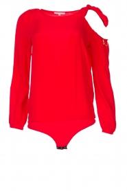 Patrizia Pepe |  Body blouse Dafne | red  | Picture 1