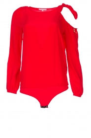 Patrizia Pepe | Body blouse Dafne | rood  | Afbeelding 1