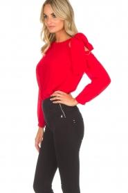 Patrizia Pepe | Body blouse Dafne | rood  | Afbeelding 4