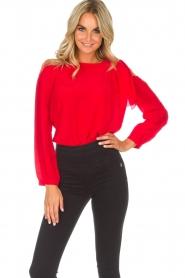 Patrizia Pepe |  Body blouse Dafne | red  | Picture 2