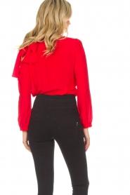 Patrizia Pepe | Body blouse Dafne | rood  | Afbeelding 5