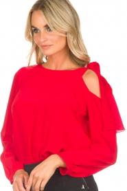 Patrizia Pepe | Body blouse Dafne | rood  | Afbeelding 6