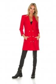 Patrizia Pepe | Blazer jurk Camila | rood  | Afbeelding 2