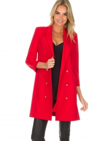 Patrizia Pepe | Blazer jurk Camila | rood  | Afbeelding 5