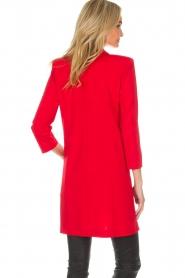 Patrizia Pepe | Blazer jurk Camila | rood  | Afbeelding 4