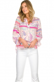 Alice & Trixie |  Silk top Melinda | pink  | Picture 2