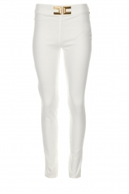 High waisted broek Penelope | wit