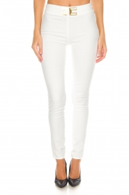 ELISABETTA FRANCHI |  High waisted pants Penelope | white  | Picture 3