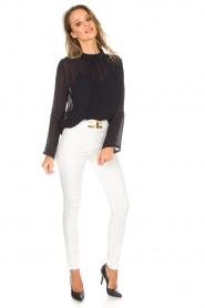 ELISABETTA FRANCHI |  High waisted pants Penelope | white  | Picture 2