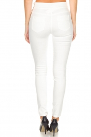 ELISABETTA FRANCHI |  High waisted pants Penelope | white  | Picture 5