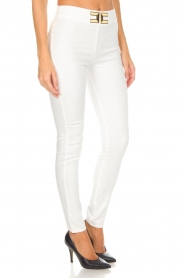 ELISABETTA FRANCHI |  High waisted pants Penelope | white  | Picture 4