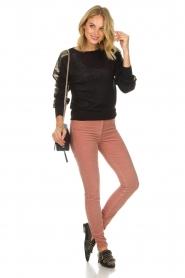 ELISABETTA FRANCHI | Fluwelen broek Veronica | roze  | Afbeelding 3