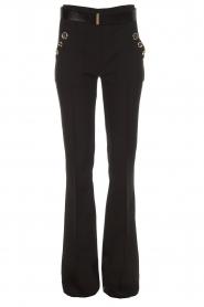 ELISABETTA FRANCHI | Flared broek Loraina | zwart  | Afbeelding 1