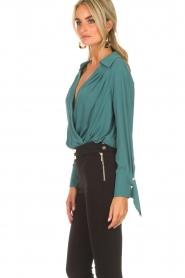 ELISABETTA FRANCHI | Body blouse Monaet | blauw  | Afbeelding 5