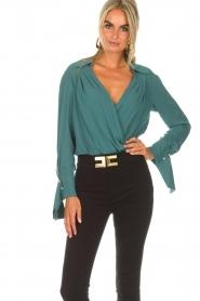 ELISABETTA FRANCHI | Body blouse Monaet | blauw  | Afbeelding 4