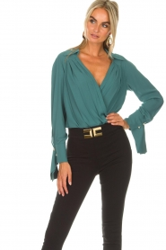 ELISABETTA FRANCHI | Body blouse Monaet | blauw  | Afbeelding 2